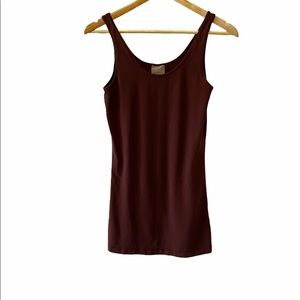 VERO MODA Brown Stretch Tunic Tank Top S